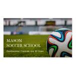 Balón de fútbol - tarjeta de visita del coche de