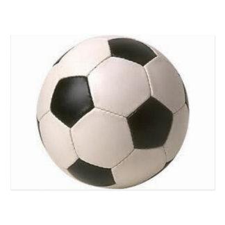 Balón de fútbol tarjeta postal