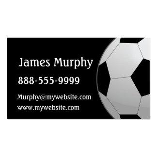 Balón de fútbol tarjetas de visita