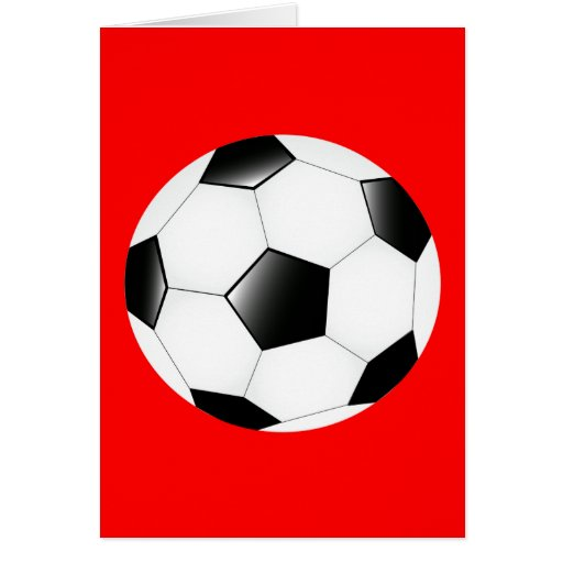 Balón de fútbol tarjetón