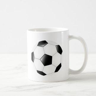 Balón de fútbol tazas de café