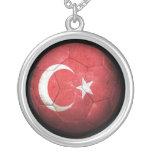 Balón de fútbol turco gastado de fútbol de bandera joyeria personalizada