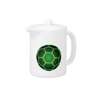 Balón de fútbol verde