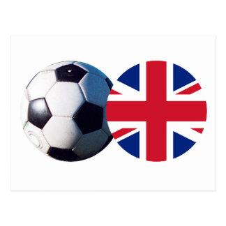 Balón de fútbol y bandera de Reino Unido el MUSEO Postal