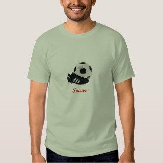 Balón de fútbol y camiseta del listón playeras