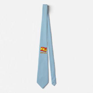 Balón de Fútbol y la Bandera Española Tie