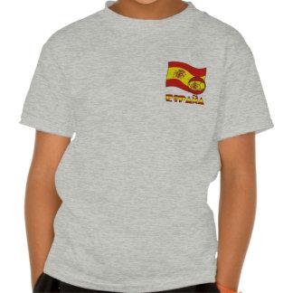 Balón de Fútbol y la Bandera Española Tshirts