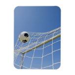 Balón de fútbol y meta 3 iman rectangular