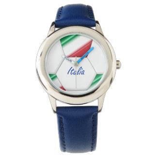 Balón ITALIA FÚTBOL de equipo nacional y bandera Relojes De Mano