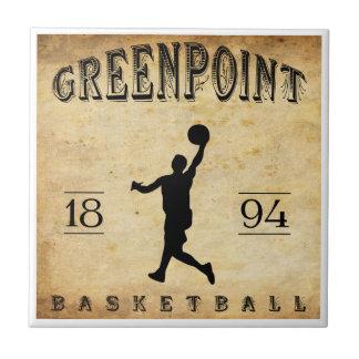 Baloncesto 1894 de Greenpoint Nueva York Teja