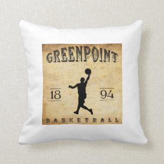 Baloncesto 1894 de Greenpoint Nueva York Almohada
