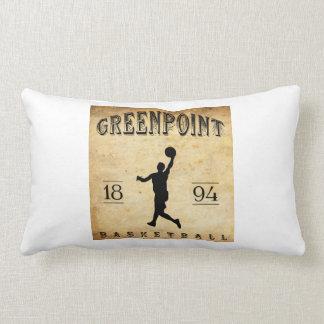 Baloncesto 1894 de Greenpoint Nueva York Cojin