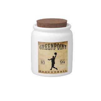 Baloncesto 1894 de Greenpoint Nueva York Plato Para Caramelo