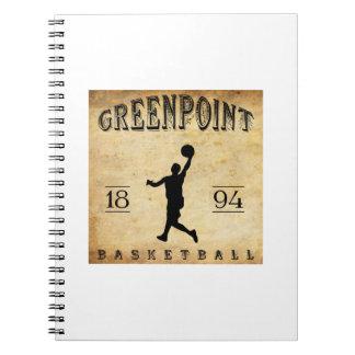 Baloncesto 1894 de Greenpoint Nueva York Libretas Espirales