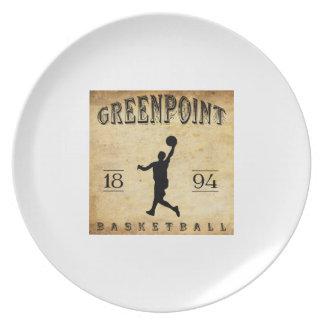 Baloncesto 1894 de Greenpoint Nueva York Plato De Comida