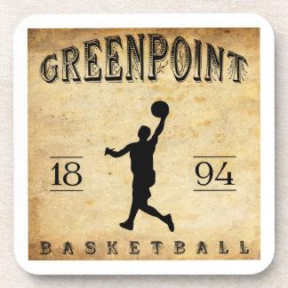 Baloncesto 1894 de Greenpoint Nueva York Posavasos De Bebida