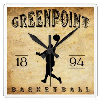Baloncesto 1894 de Greenpoint Nueva York Relojes De Pared