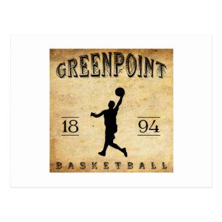 Baloncesto 1894 de Greenpoint Nueva York Tarjeta Postal