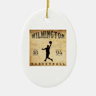 Baloncesto 1894 de Wilmington Delaware Ornamentos Para Reyes Magos