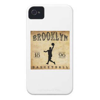 Baloncesto 1896 de Brooklyn Nueva York iPhone 4 Carcasas