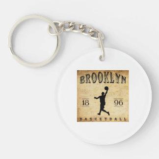Baloncesto 1896 de Brooklyn Nueva York Llavero Redondo Acrílico A Una Cara
