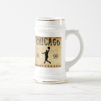 Baloncesto 1896 de Chicago Illinois Jarra De Cerveza