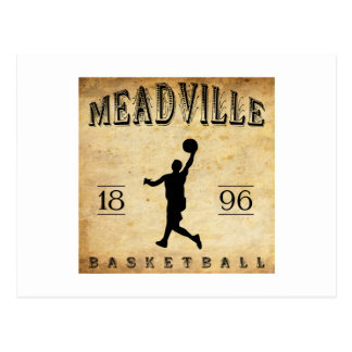 Baloncesto 1896 de Meadville Pennsylvania Postal
