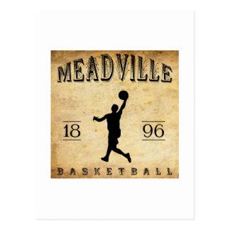 Baloncesto 1896 de Meadville Pennsylvania Tarjeta Postal