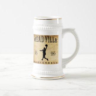 Baloncesto 1896 de Meadville Pennsylvania Jarra De Cerveza