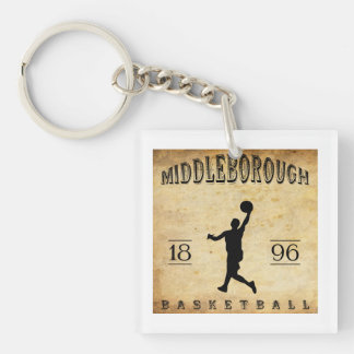 Baloncesto 1896 de Middleborough Massachusetts Llavero Cuadrado Acrílico A Una Cara