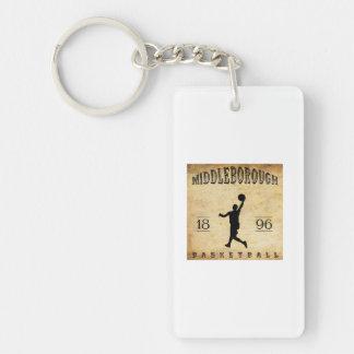 Baloncesto 1896 de Middleborough Massachusetts Llavero Rectangular Acrílico A Doble Cara