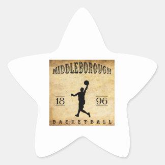 Baloncesto 1896 de Middleborough Massachusetts Pegatina En Forma De Estrella