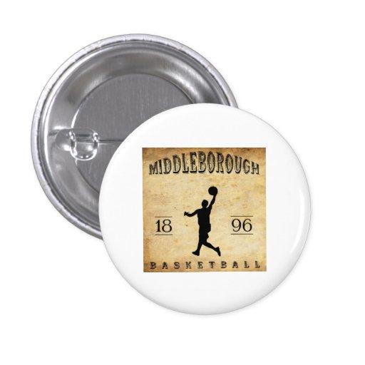 Baloncesto 1896 de Middleborough Massachusetts Pin
