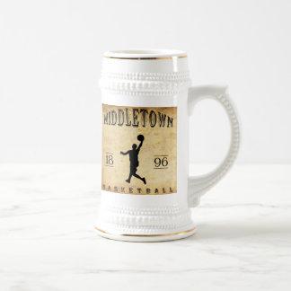 Baloncesto 1896 de Middletown Connecticut Jarra De Cerveza
