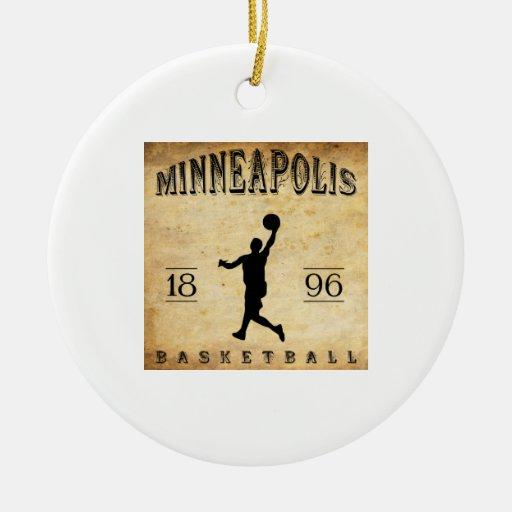 Baloncesto 1896 de Minneapolis Minnesota Ornamentos De Navidad