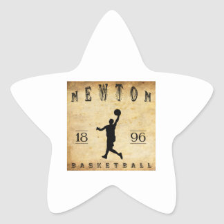 Baloncesto 1896 de Newton Massachusetts Pegatina En Forma De Estrella