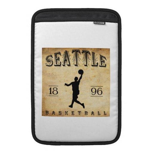 Baloncesto 1896 de Seattle Washington Fundas Macbook Air