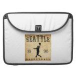 Baloncesto 1896 de Seattle Washington Fundas Macbook Pro