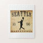 Baloncesto 1896 de Seattle Washington Puzzle