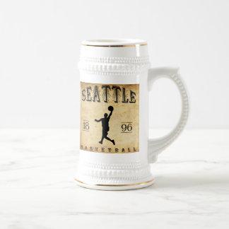 Baloncesto 1896 de Seattle Washington Jarra De Cerveza