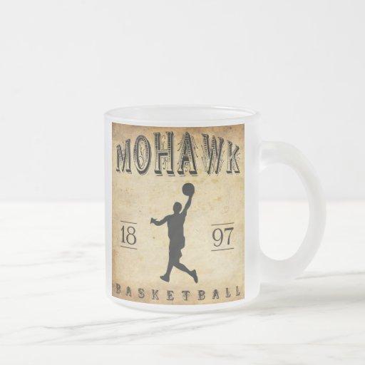 Baloncesto 1897 de Nueva York del Mohawk Tazas De Café