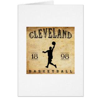 Baloncesto 1898 de Cleveland Ohio Tarjeta Pequeña