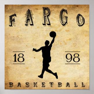 Baloncesto 1898 de Fargo Dakota del Norte Posters