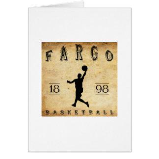 Baloncesto 1898 de Fargo Dakota del Norte Tarjeta Pequeña