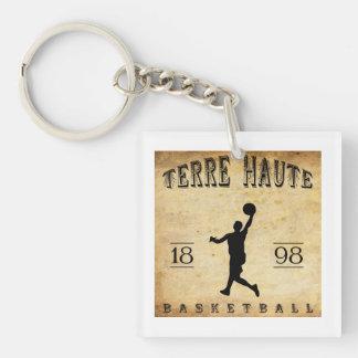 Baloncesto 1898 de Terre Haute Indiana Llavero Cuadrado Acrílico A Una Cara