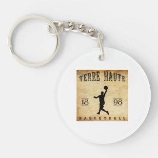 Baloncesto 1898 de Terre Haute Indiana Llavero Redondo Acrílico A Doble Cara