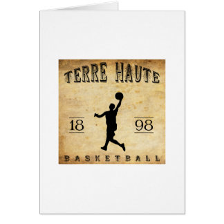 Baloncesto 1898 de Terre Haute Indiana Tarjeta Pequeña