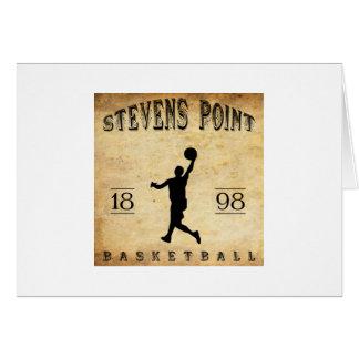 Baloncesto 1898 de Wisconsin del punto de Stevens Tarjeta Pequeña
