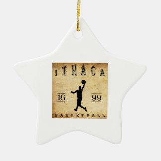 Baloncesto 1899 de Ithaca Nueva York Adorno De Cerámica En Forma De Estrella