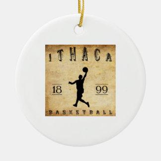 Baloncesto 1899 de Ithaca Nueva York Adorno Redondo De Cerámica